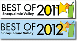 Voted Best Real Estate Agent in Snoqualmie Valley in 2011 AND 2012